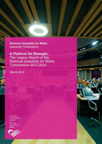 The Legacy Report of the National Assembly for Wales Commission 2011-2016