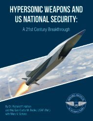 HYPERSONIC WEAPONS AND US NATIONAL SECURITY