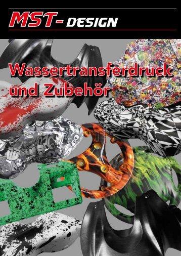MST-Design Wassertransferdruck und Lackierzubehör Katalog 2016