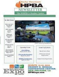RMHPBA Newsletter