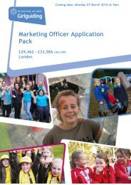 Marketing Officer Application Pack