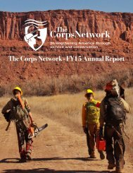 The Corps Network - FY15 Annual Report