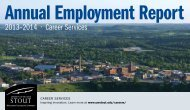 Annual Employment Report