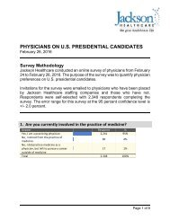 PHYSICIANS ON U.S PRESIDENTIAL CANDIDATES