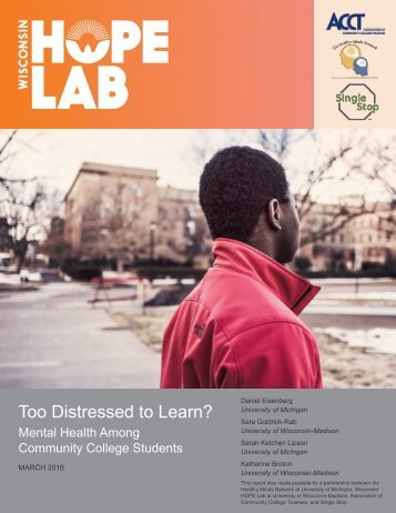 Too Distressed to Learn?