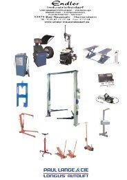 Longus Werkstattausrüstung Pkw - Endler Industriebedarf