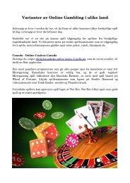 Varianter av Online Gambling i ulike land