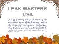 Find the Best Water Leak Detection Company in Myrtle Beach Charleston