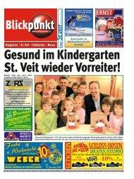 Gesund im Kindergarten St. Veit wieder Vorreiter!