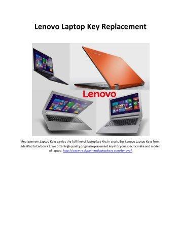 Lenovo Laptop Key Replacement