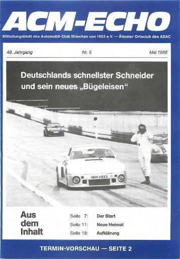 """und sein neues """"Bügeleisen"""" - ACM Automobilclub München von ..."""