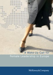 A Wake-Up Call for Female Leadership in Europe - McKinsey ...