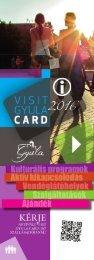 Visit Gyula Card Magazin 2016 Szolgáltatások