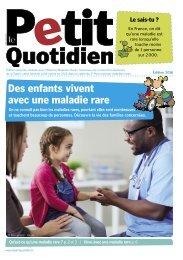 Des enfants vivent avec une maladie rare