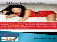 Bangalore Escorts Services by Ojaswi sharma