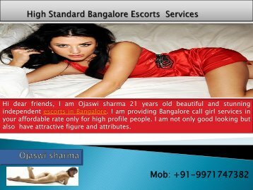 Bangalore Escorts Services by Ojaswi sharma