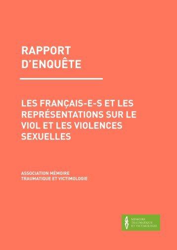 RAPPORT D'ENQUÊTE