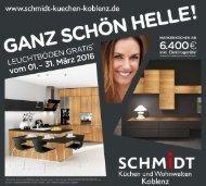 SCHMIDT Küchen Aktion Koblenz 2016