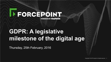 GDPR A legislative milestone of the digital age