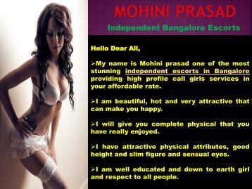 Mohini prasad Independent escorts in Bnagalore