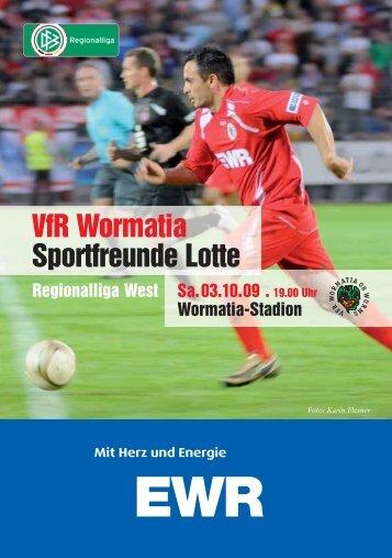 03.10.2009 Sportfreunde Lotte - Wormatia Worms