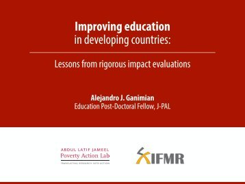 Improving education in developing countries