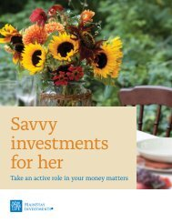Savvy investments for her