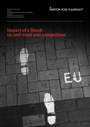 Impact of a Brexit on anti-trust and competition