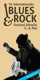 14. Blues & Rock Festival Altzella | 05. - 06. Mai 2016