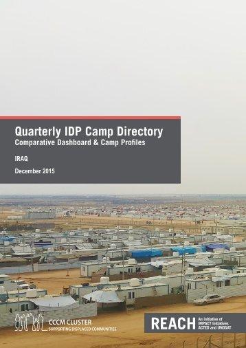 Quarterly IDP Camp Directory