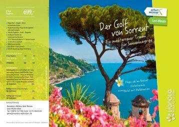 Golf von Sorrent Rundreise