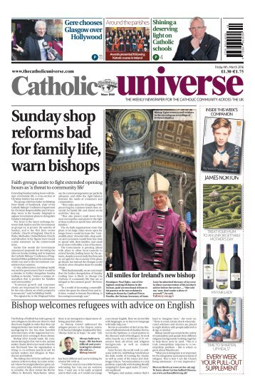 The Catholic Universe _4th March 2016