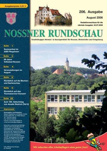 206. Ausgabe - Nossner Rundschau