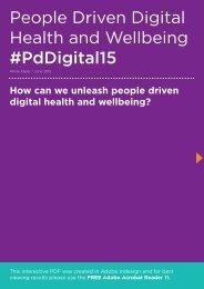 People Driven Digital Health and Wellbeing #PdDigital15