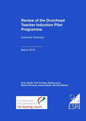 Review of the Droichead Teacher Induction Pilot Programme