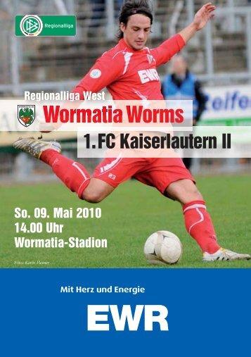 09.05.2010 1.FC Kaiserslautern II - Wormatia Worms