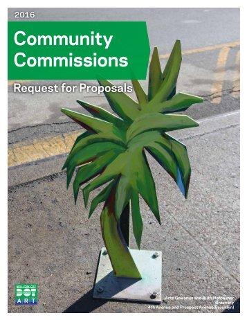 Community Commissions