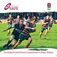 The Rugby Football Union's Commitment to Player Welfare