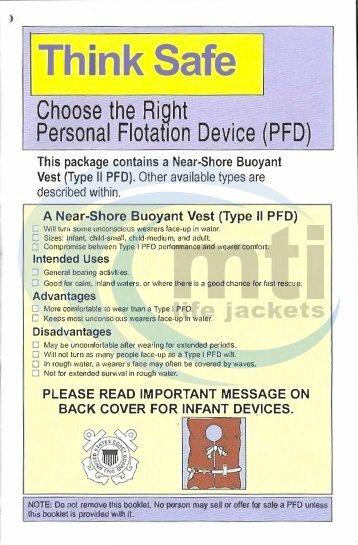 Think Safe Booklet Type II Infant