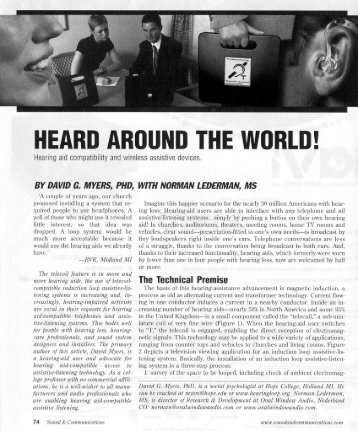 HEARD AROUND THE WORLD! - Hearing Loop