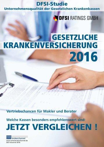 DFSI-Studie 2016 - GESETZLICHE KRANKENVERSICHERUNG 2016