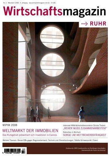 Nr. 2 März/April 2008 4. Jahrgang www - Wirtschaftsmagazin Ruhr