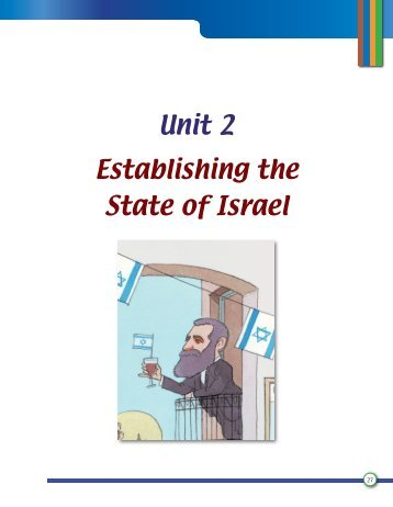Unit 2 Establishing the State of Israel - Israventure