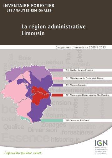 La région administrative Limousin