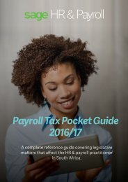 Payroll Tax Pocket Guide 2016/17