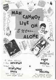 Man Cannot Live on Eno Alone Fanzine, Issue 4 1984