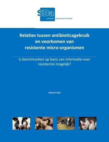 Relaties tussen antibioticagebruik en voorkomen van resistente micro-organismen