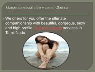 Beautiful escorts Services in Chennai