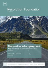 The road to full employment