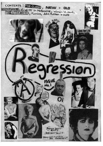 Regression Fanzine, Issue 1 1982